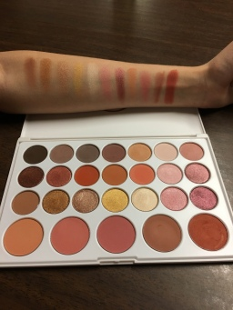 The last of the swatches. I just realized we skipped the center pan of blush. Oops!